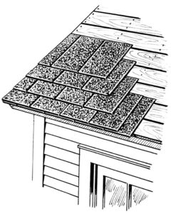 shingle roof sketch